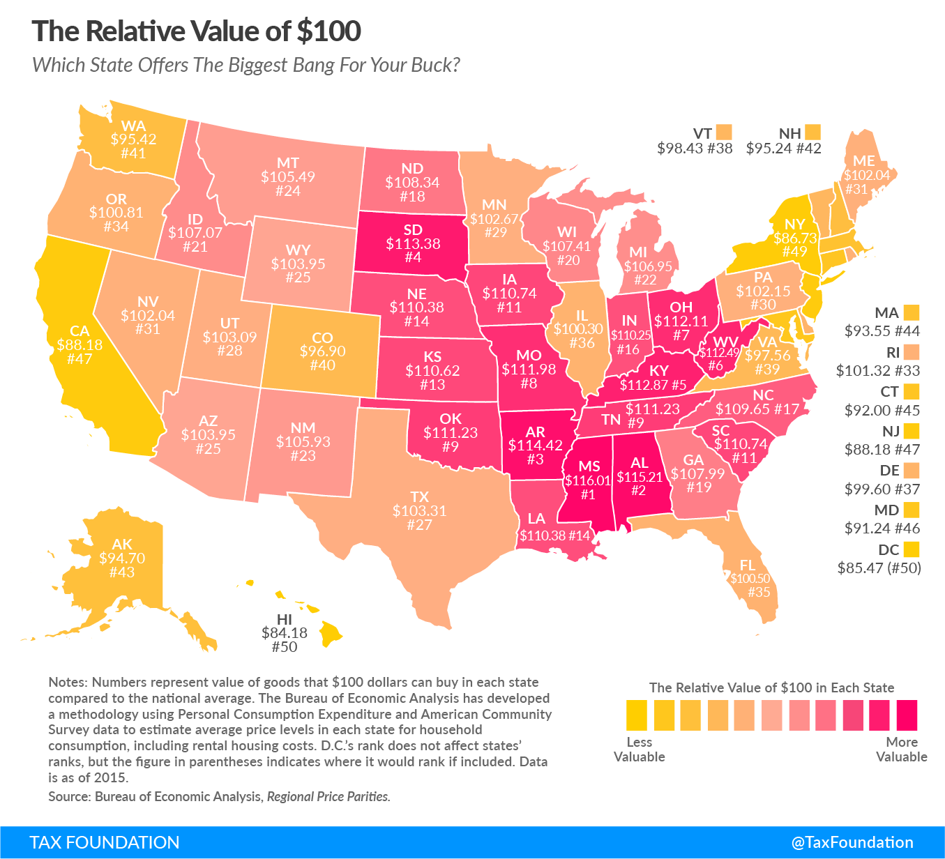 These Maps Show Where a Dollar Goes Furthest in the U.S.