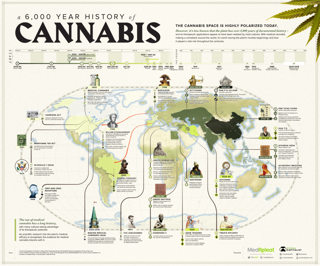 The 6,000-Year History of Medical Cannabis