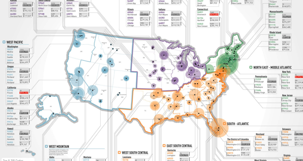 The Richest Zip Codes in America in One Map on idaho towns, london towns, canada towns, boston towns, sask towns, ct towns, nj towns, connecticut towns, ny towns, central mass towns, maine towns, mississippi towns, pa towns, uk towns, iowa towns,