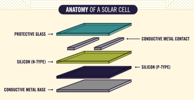 Animated Infographic  How Solar Panels Work