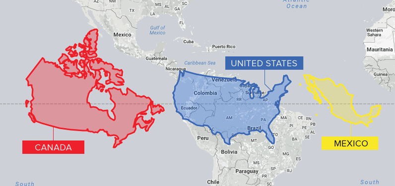 United States Of America World Map.The Problem With Our Maps