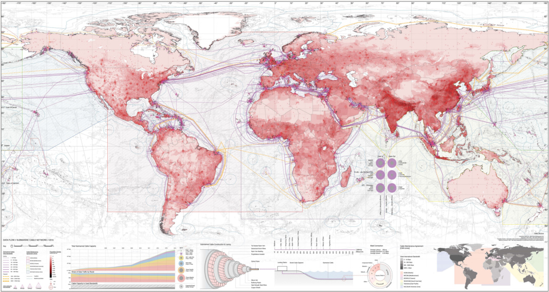 Map: The World\'s Network of Submarine Cables