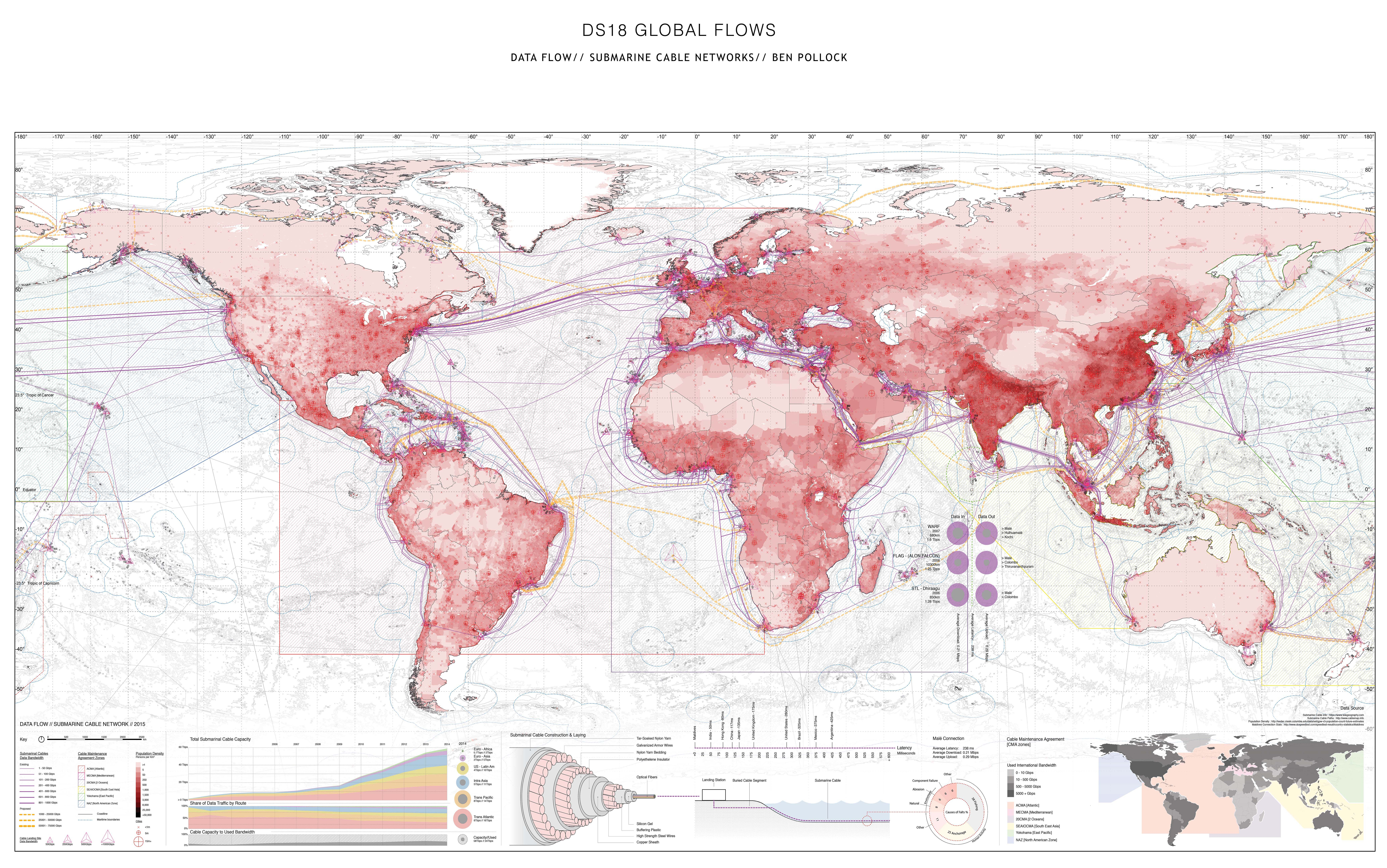 Map The World S Network Of Submarine Cables
