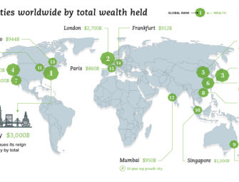Mapping the World's Wealthiest Cities