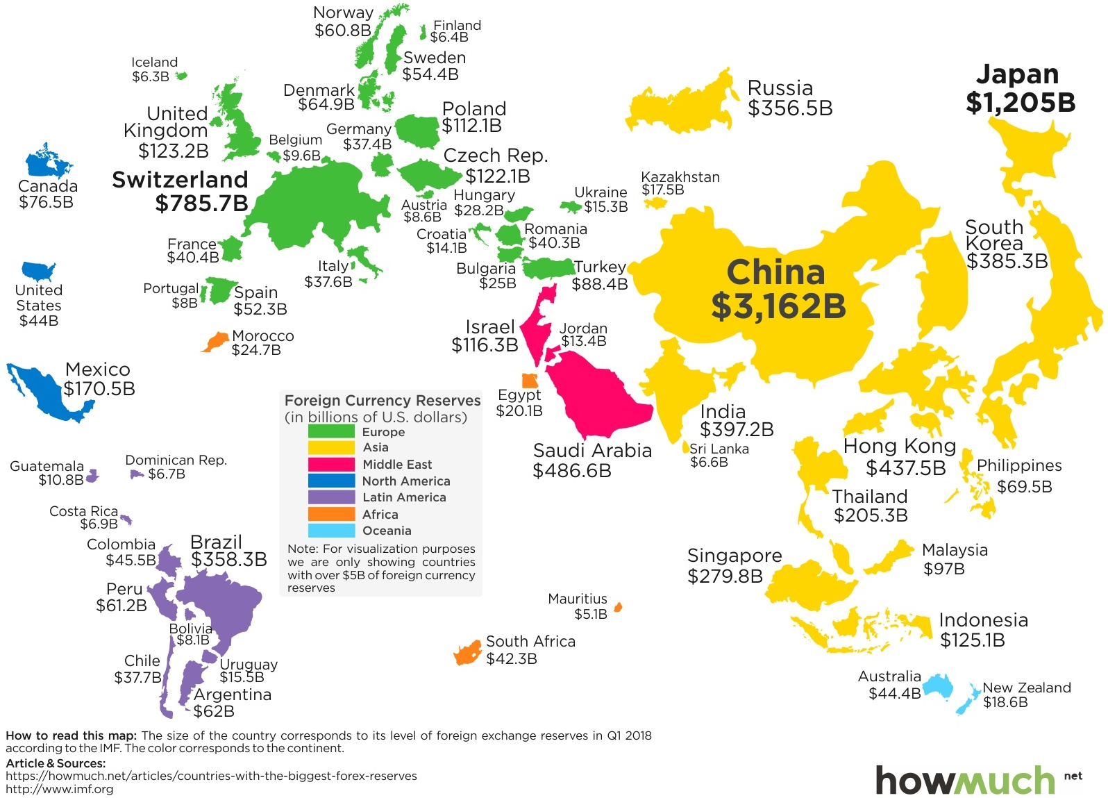 Mapped: The Countries With the Most Foreign Currency Reserves