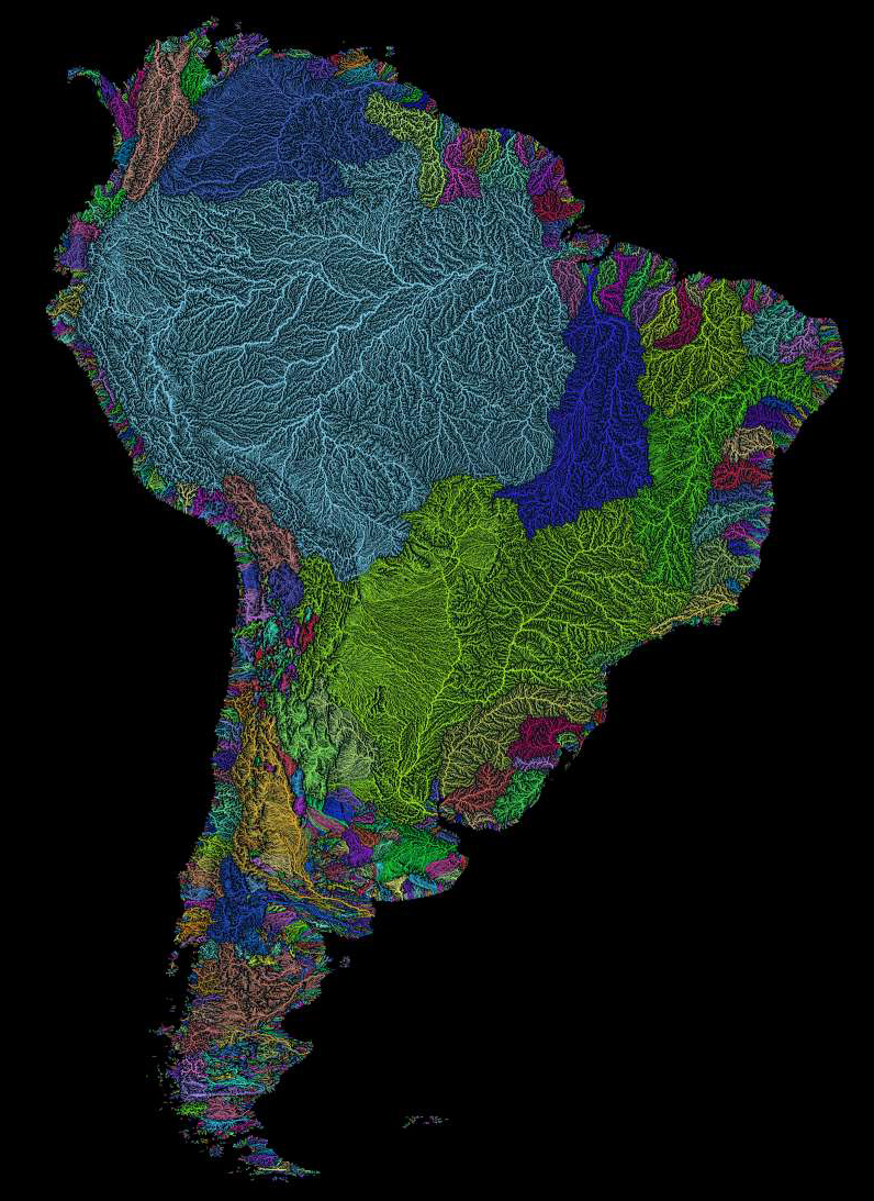 river basin map south america