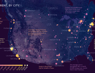 The Cost of Rent in 140+ North American Cities