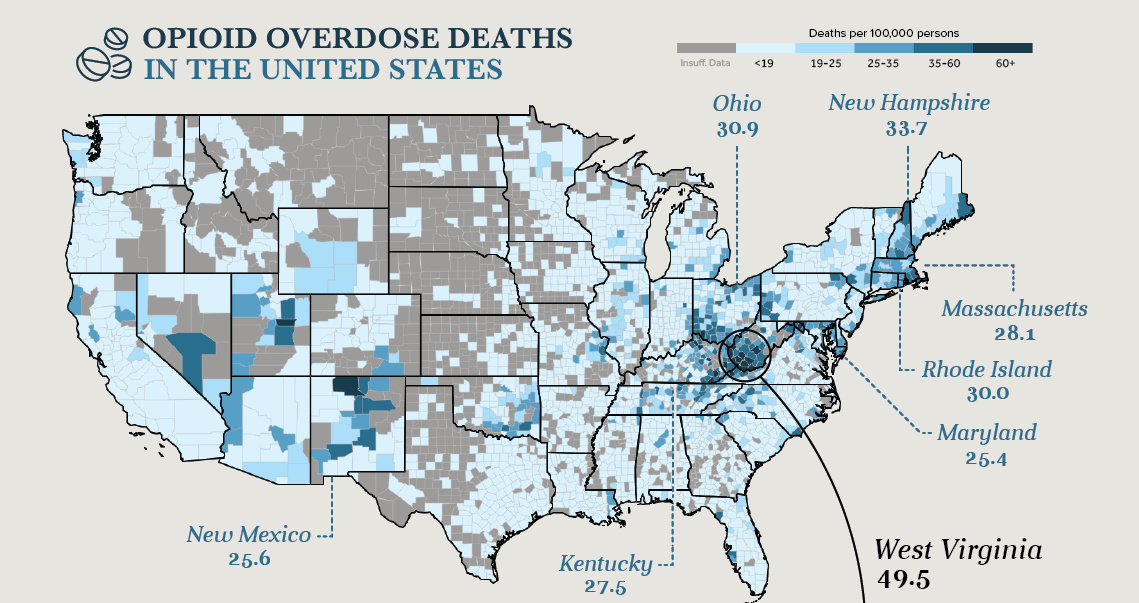 The Numbers Behind America S Opioid Epidemic