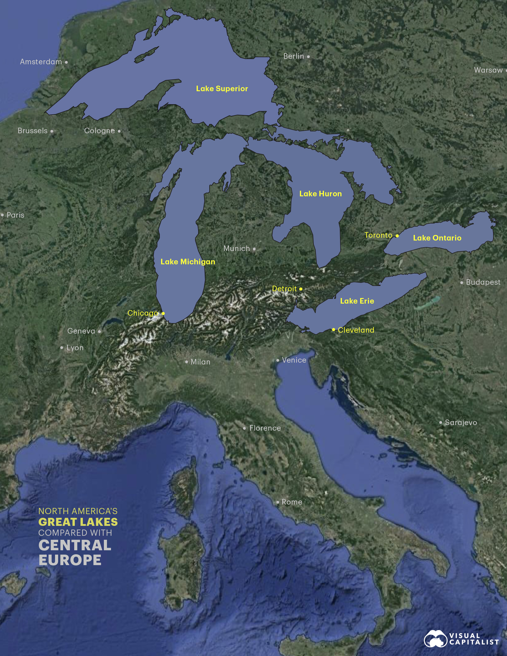 great lakes compared with europe