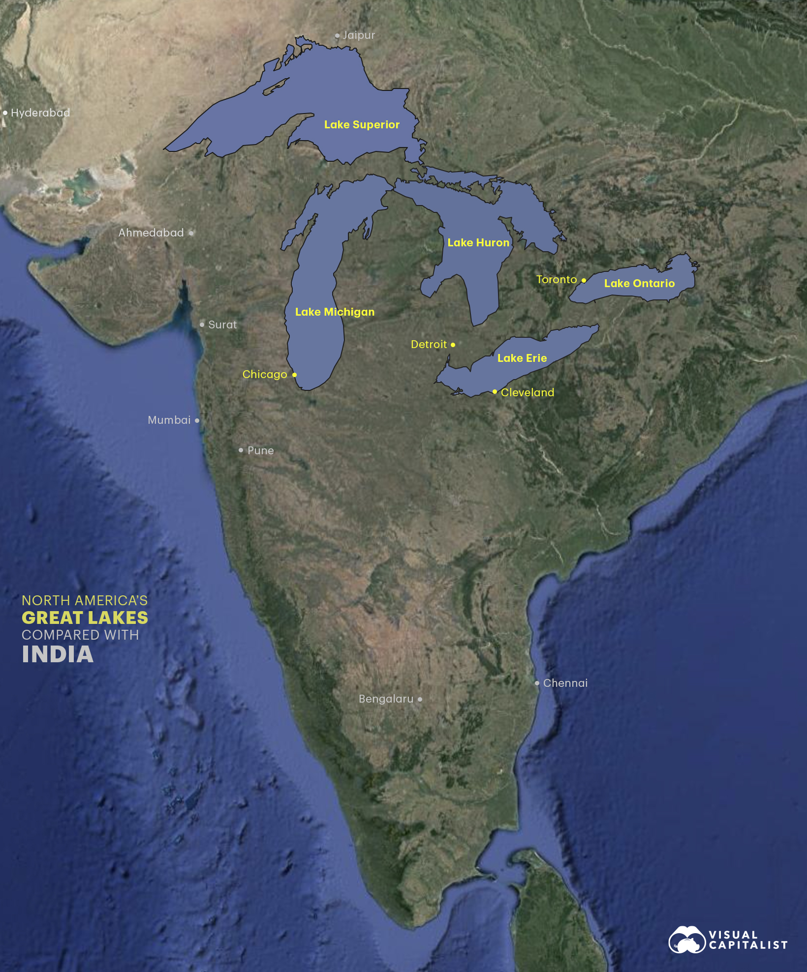 great lakes compared with india