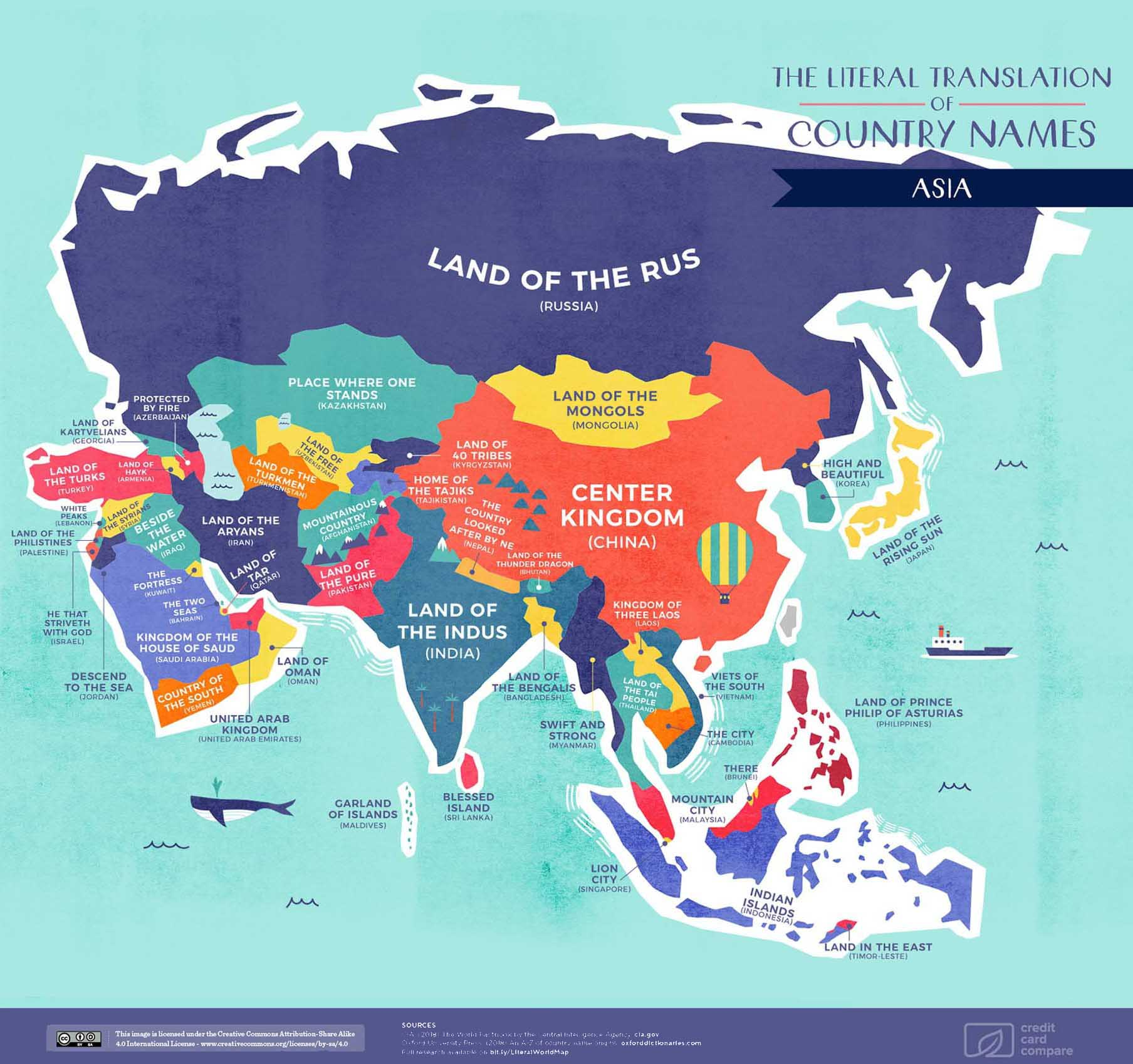 Image Of Asia Map.Asia Map Names Visual Capitalist