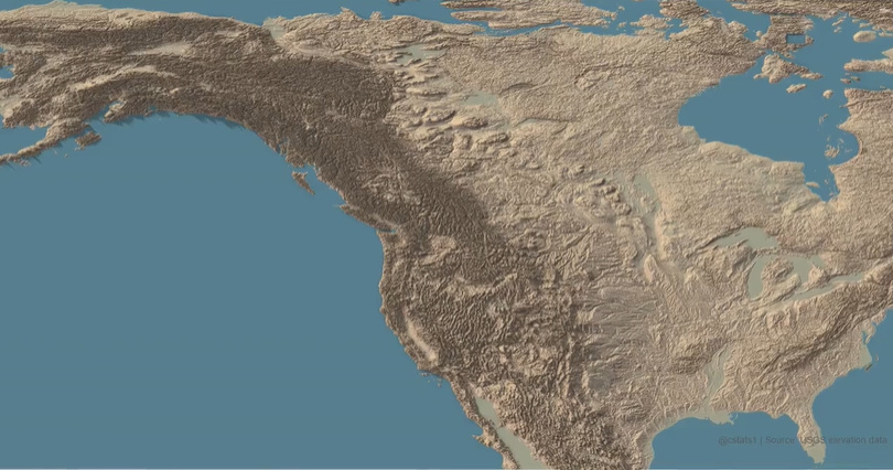 Mapped: The United States of Elevation