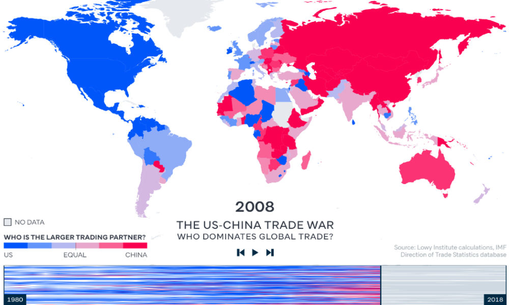 map of us and china How China Overtook The U S As The World S Major Trading Partner map of us and china