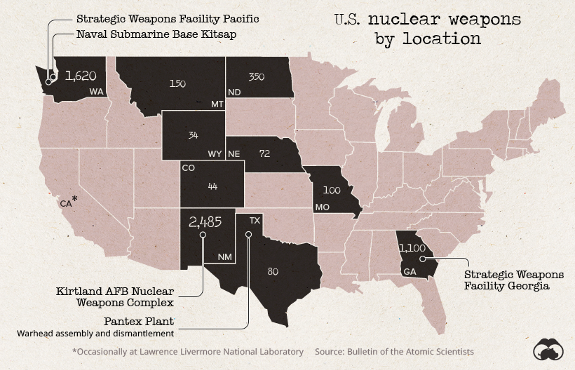 us nuclear weapons location