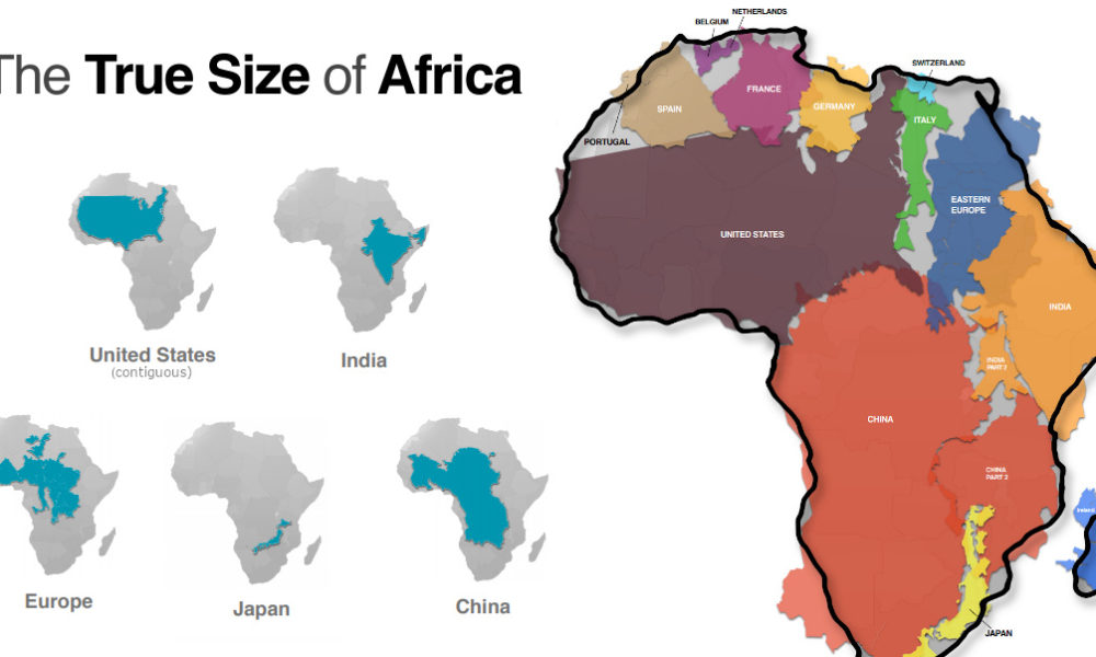 true size map of earth Mapped Visualizing The True Size Of Africa Visual Capitalist