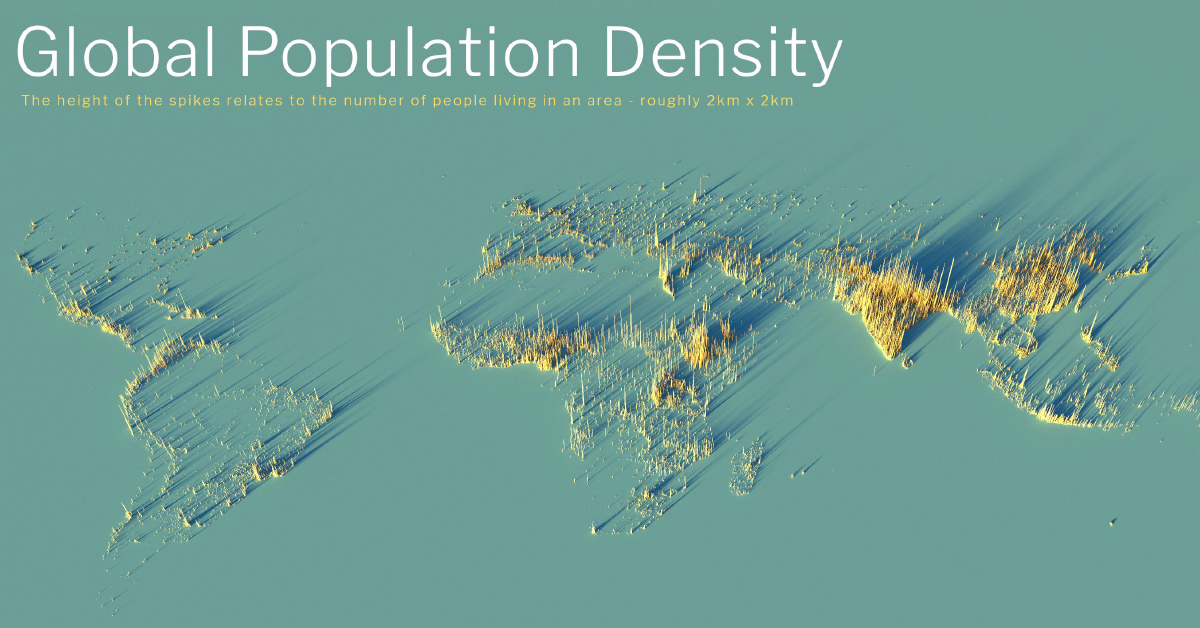 global population density map