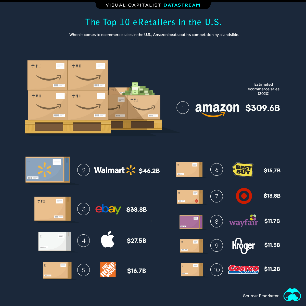 Which Companies Currently Dominate the U.S. Ecommerce Market?