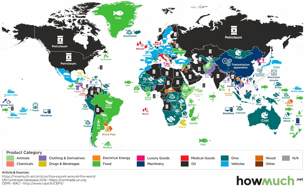 Mapped: The Top Export in Every Country