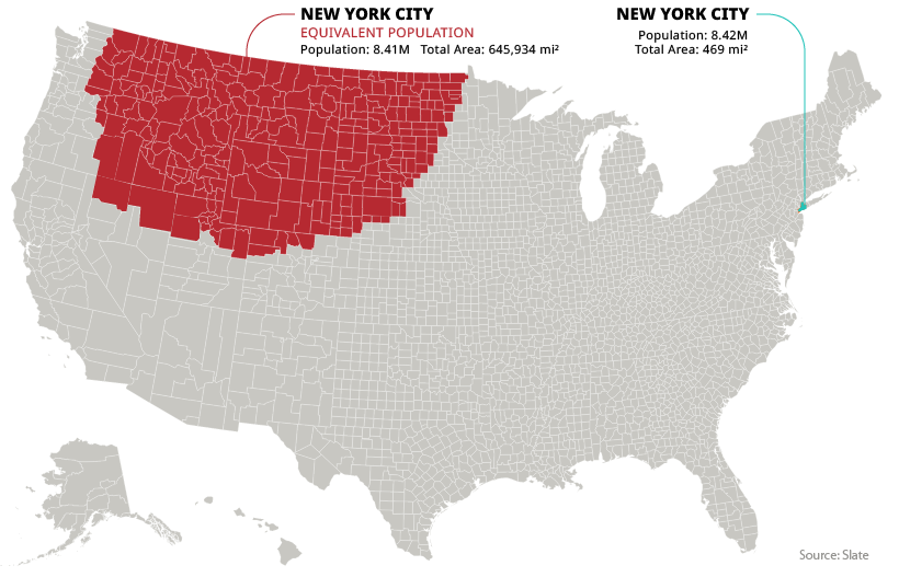 new york city population density equivalent map