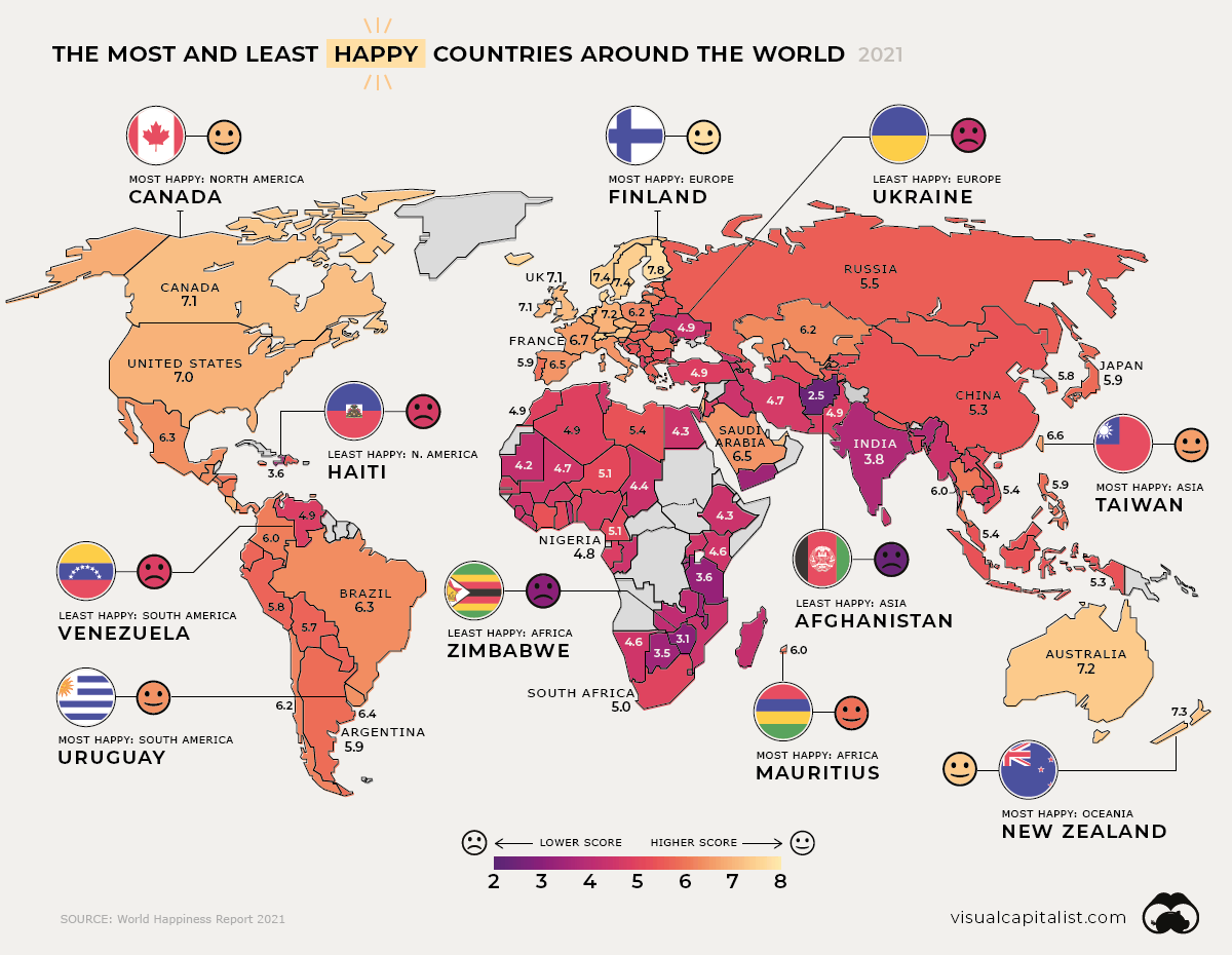 Global Happiness Levels 2021-Main-Graphic
