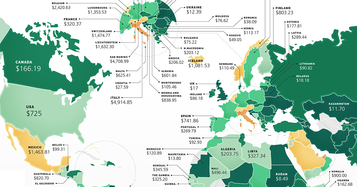 Cost of Starting A Business By Country Share