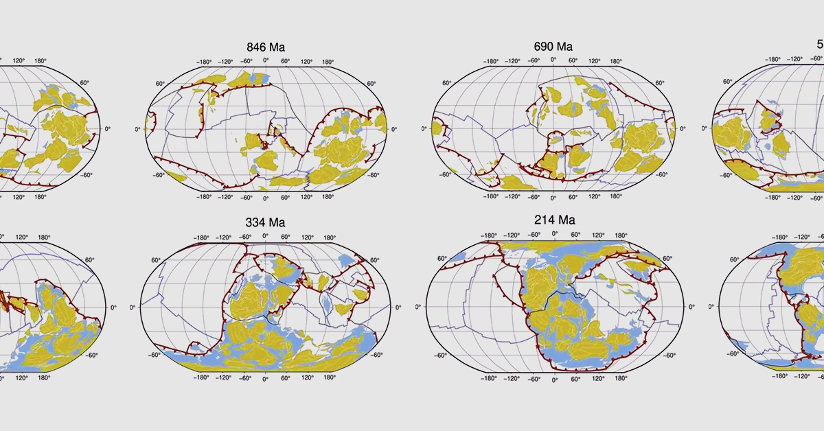 1 Billion Years of Tectonic Plate Movement in 40 Seconds