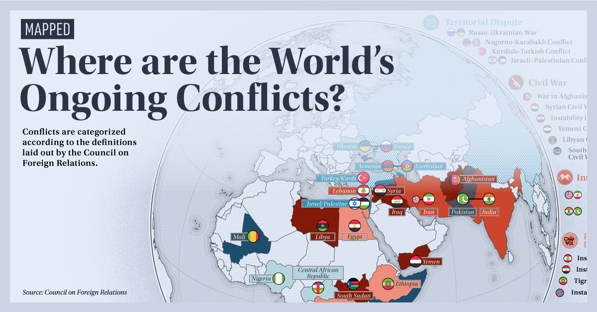 Mapping World's Ongoing Conflicts