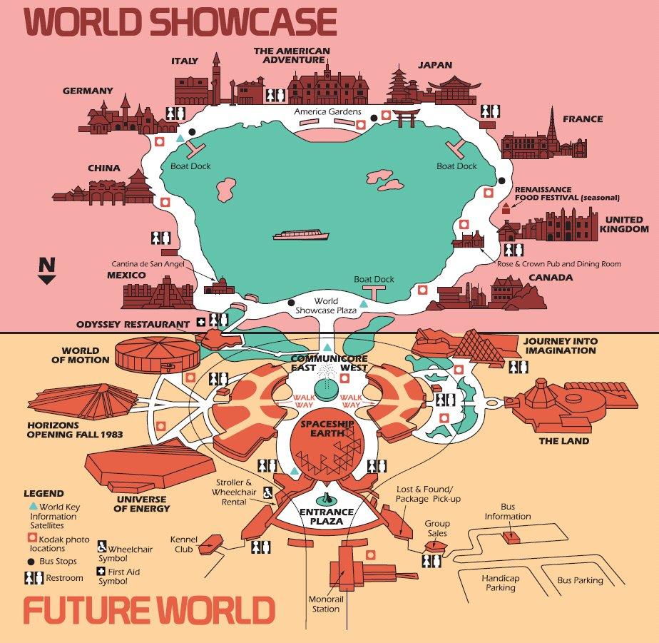 disney world epcot map 1982