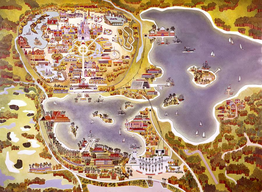 seven seas lagoon disney world 1971 plan map